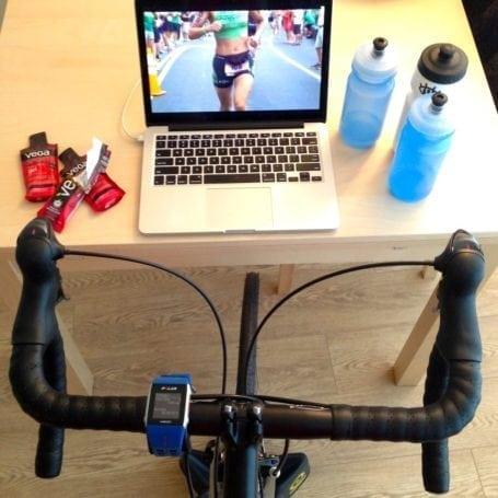 My typical Saturday morning bike trainer setup