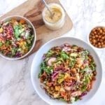 Rainbow Kale Slaw with Miso Tahini Dressing - a healthy, delicious big-batch salad recipe - vegan, dairy-free, gluten-free || Eat Spin Run Repeat
