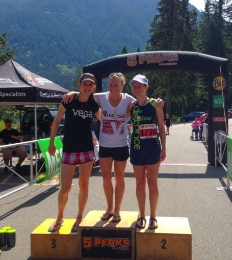 Women 25-30 age category winners - 5 Peaks Golden Ears