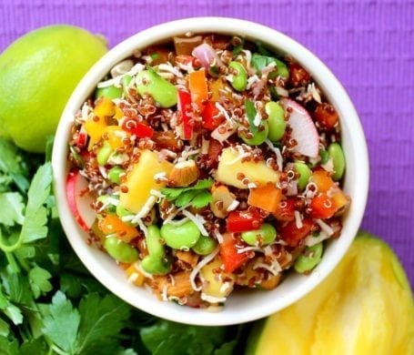 coco lime quinoa salad - eat spin run repeat