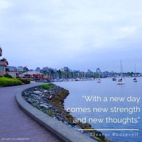 with a new day comes new strength and new thoughts