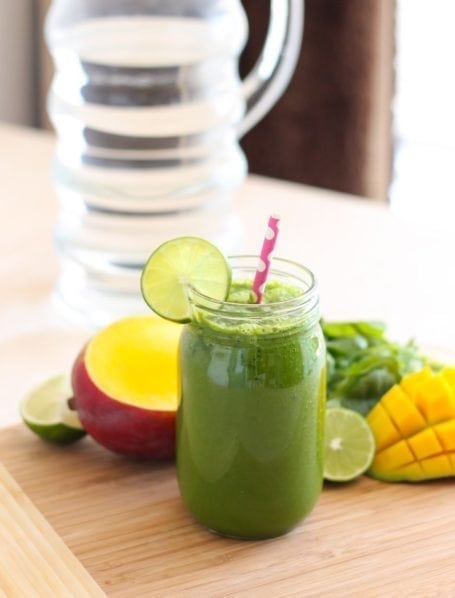 Aloe-ha Mango Green Smoothie - Eat Spin Run Repeat