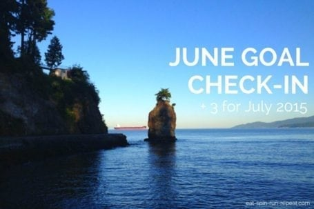 June Goal Check-In + 3 for July 2015 - Eat Spin Run Repeat