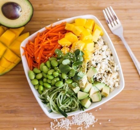 Raw Vegan Sushi Bowl - Eat Spin Run Repeat
