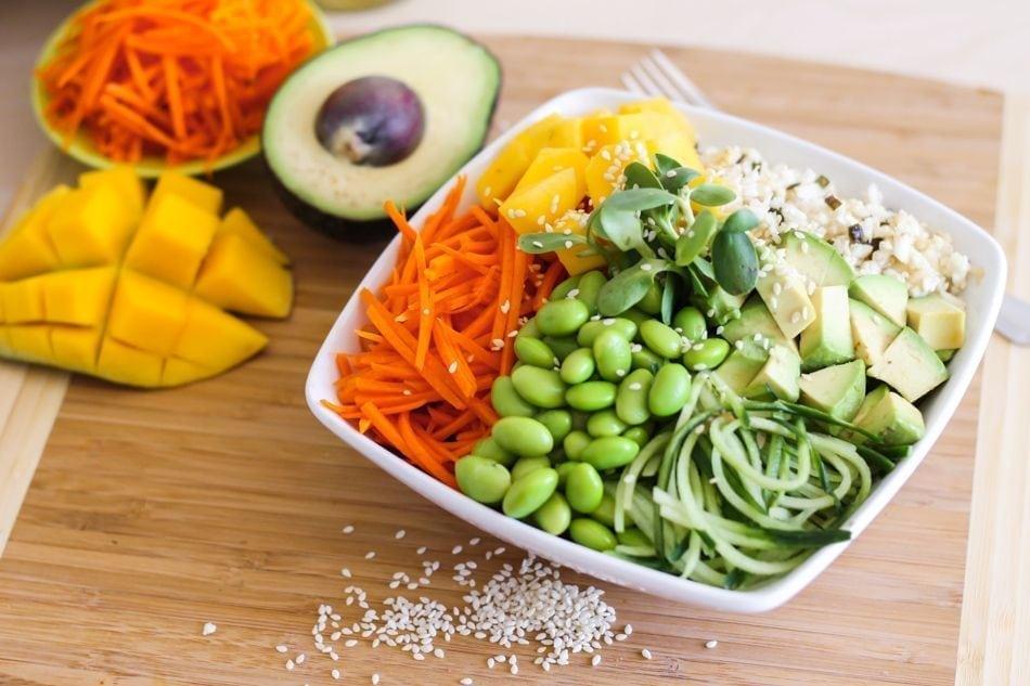 Raw Vegan Sushi Bowl - Eat Spin Run Repeat