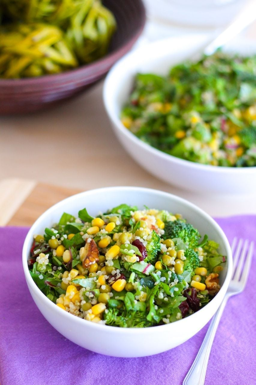 Summertime Quinoa and Greens Salad