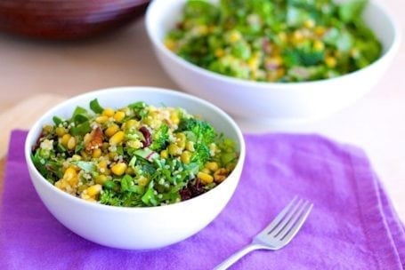 Summertime Quinoa and Greens Salad - Eat Spin Run Repeat