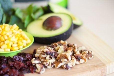 walnuts and avocado