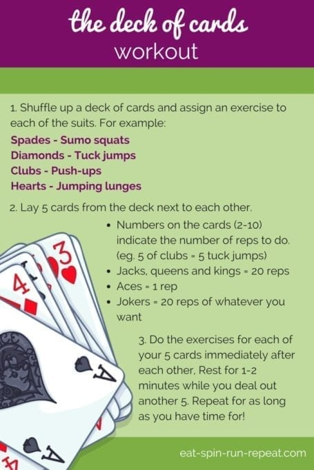 Fit Bit Friday 201 - The Deck of Cards Workout - Eat Spin Run Repeat