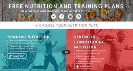 Free Running and Strength & Conditioning Plans from Vega