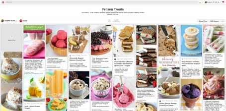 Healthy Frozen Treats Pinterest Board
