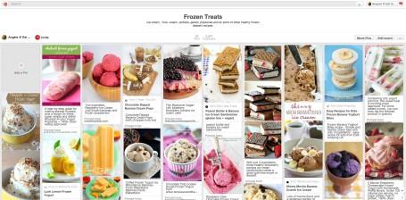 Healthy Frozen Treats Pinterest Board