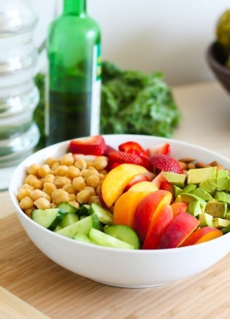 Ingredients for Peaches and Greens Salad Recipe - Eat Spin Run Repeat
