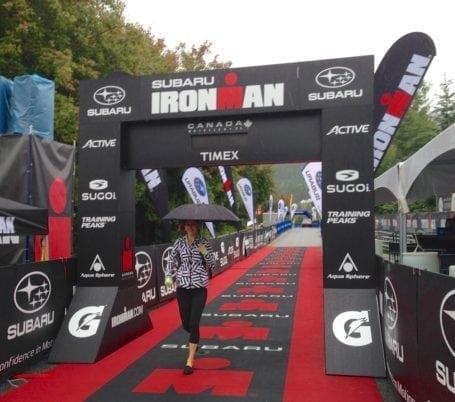 Ironman Canada finish line