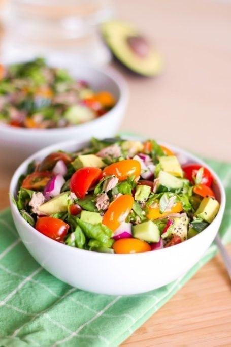Power Greens Tuna Salad - Eat Spin Run Repeat
