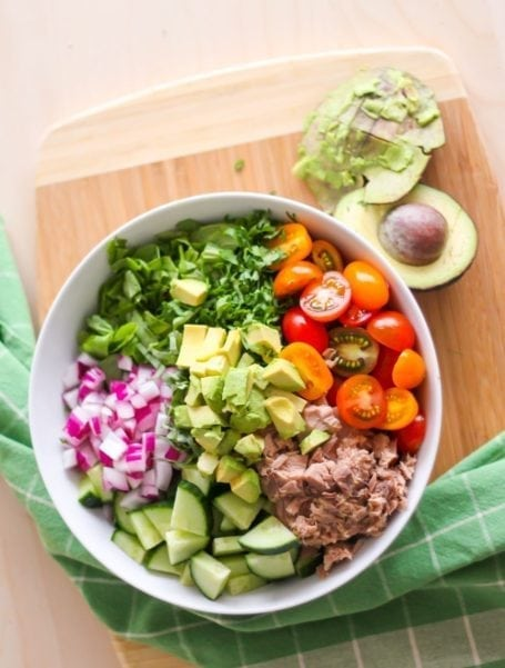 Power Greens Tuna Salad before mixing