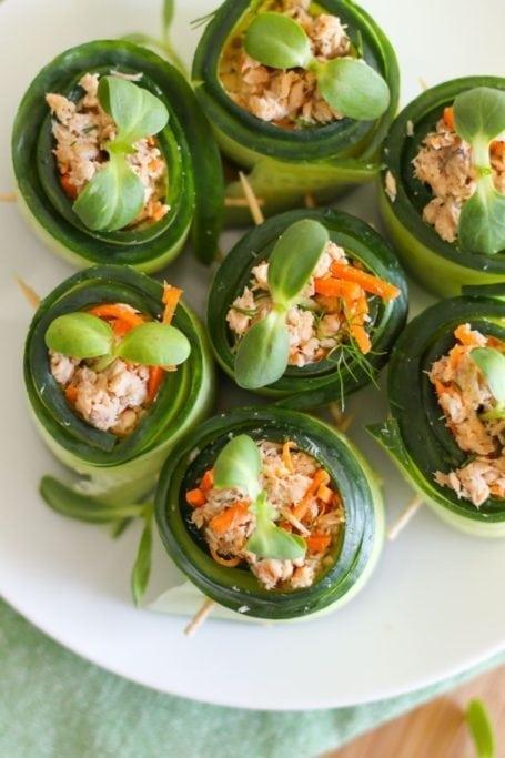 Salmon Cucumber Rolls - Eat Spin Run Repeat