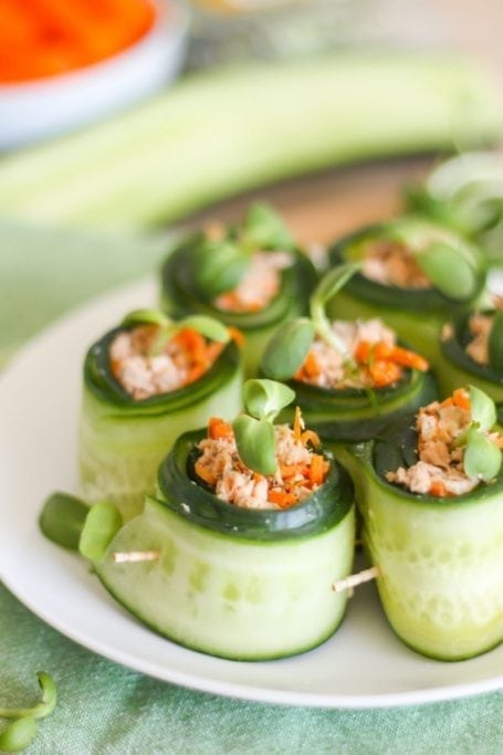 Salmon Cucumber Rolls - Eat Spin Run Repeat