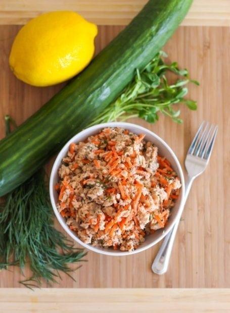 Salmon Cucumber Rolls Ingredients 2