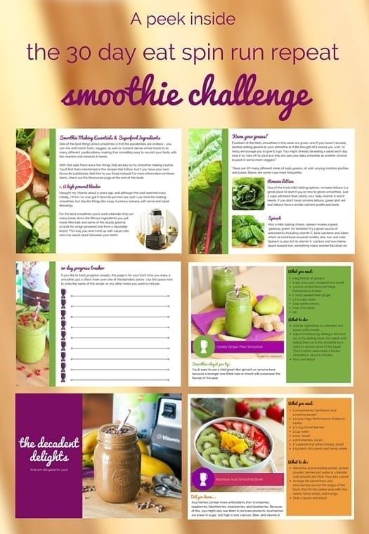 A peek inside the 30-day Eat Spin Run Repeat Smoothie Challenge