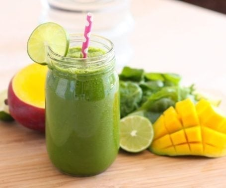 Aloe-ha Mango Green Smoothie - Eat Spin Run Repeat