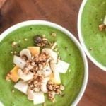 Apple Cinnamon Crunch Smoothie Bowl - My Fresh Perspective || #greensmoothie #vegan #sugardetox #fall #smoothie