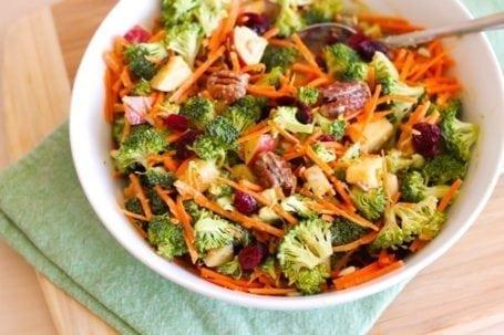 Broccoli Pecan Salad Recipe - Eat Spin Run Repeat