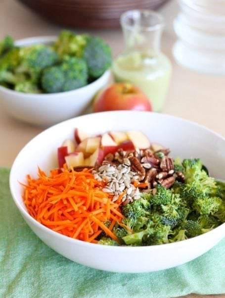 Broccoli Pecan Salad Recipe - Eat Spin Run Repeat