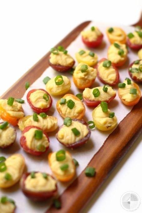 Chickpea Cherry Tomato Bites - Feasting on Fruit