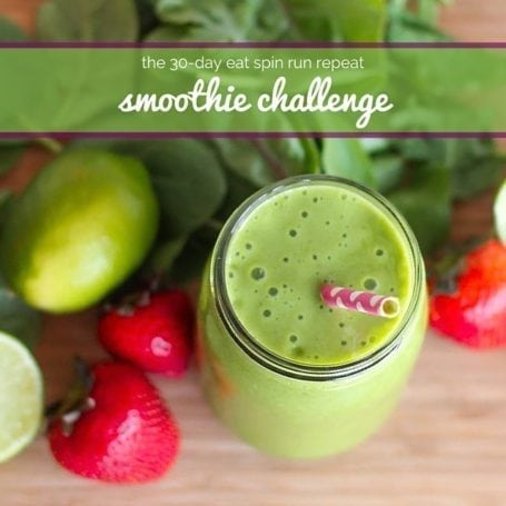 Eat Spin Run Repeat 30 Day Smoothie Challenge - Book Cover