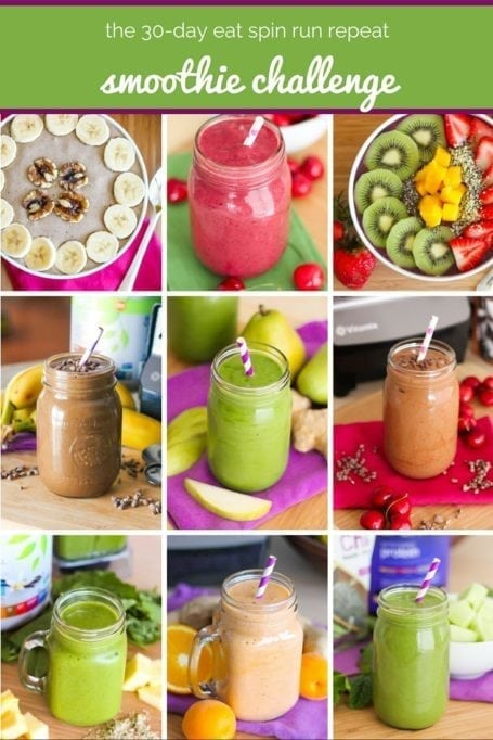 The 30 Day Eat Spin Run Repeat Smoothie Challenge