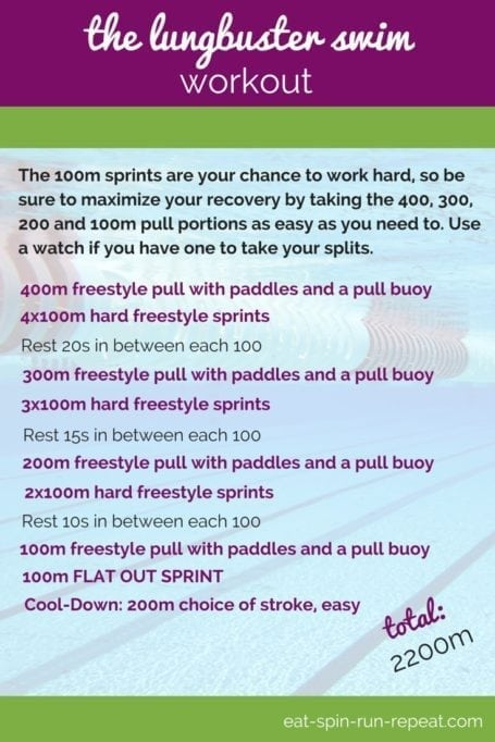Fit Bit Friday 205 - The Lungbuster Swim Workout - Eat Spin Run Repeat