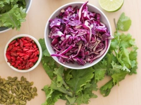 Ingredients for Goji Kale Slaw - Eat Spin Run Repeat