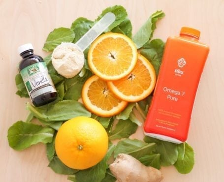 Ingredients for Orange Sherbet Smoothie - Eat Spin Run Repeat