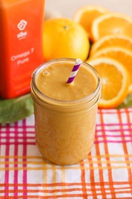 Orange Sherbet Smoothie - Eat Spin Run Repeat