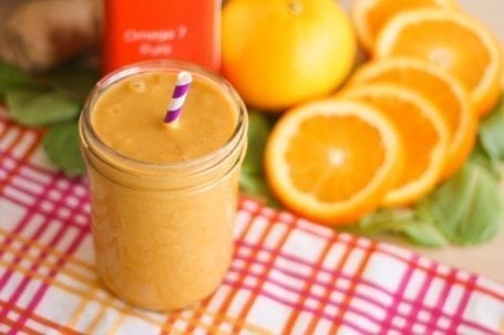 Orange Sherbet Smoothie - Eat Spin Run Repeat