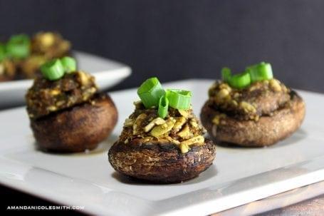Raw Vegan Stuffed Mushrooms - Amanda Nicole Smith