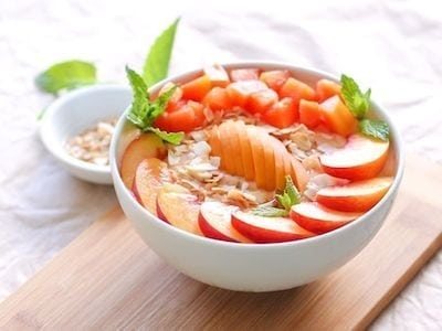 Stone Fruit Smoothie Bowl - Eat Spin Run Repeat