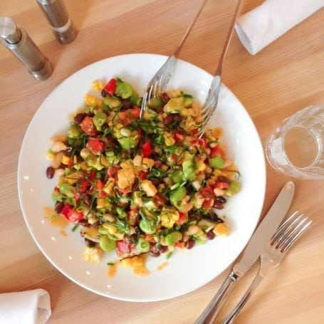 Succotash Salad - Heirloom Vegetarian Restaurant (not on the menu yet but it might be soon!)
