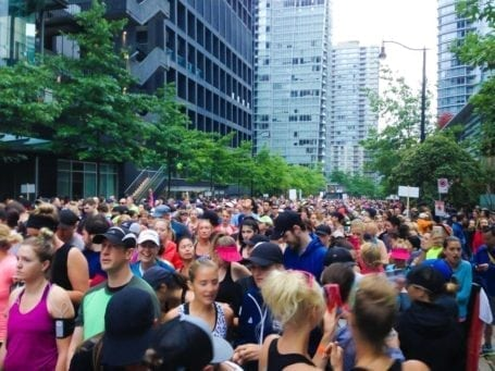 The start line for the Seawheeze Half Marathon 2015