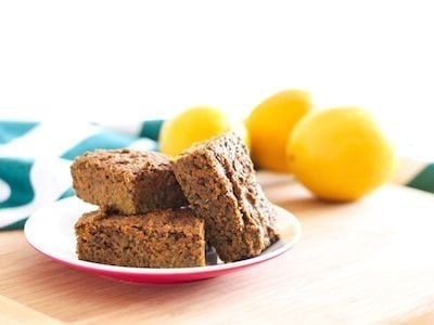 Vegan Lemon Poppyseed Protein Squares - Eat Spin Run Repeat