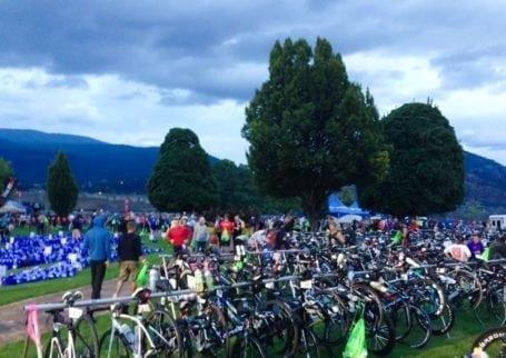 transition area pre-race