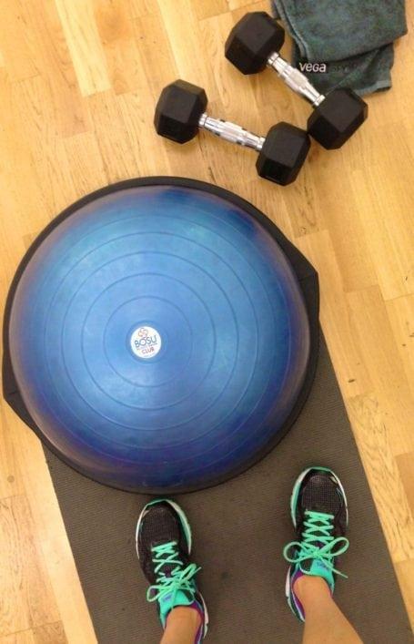 Bosu and weights