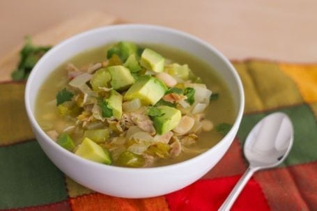 Clean Eating White Chicken Chili - Eat Spin Run Repeat