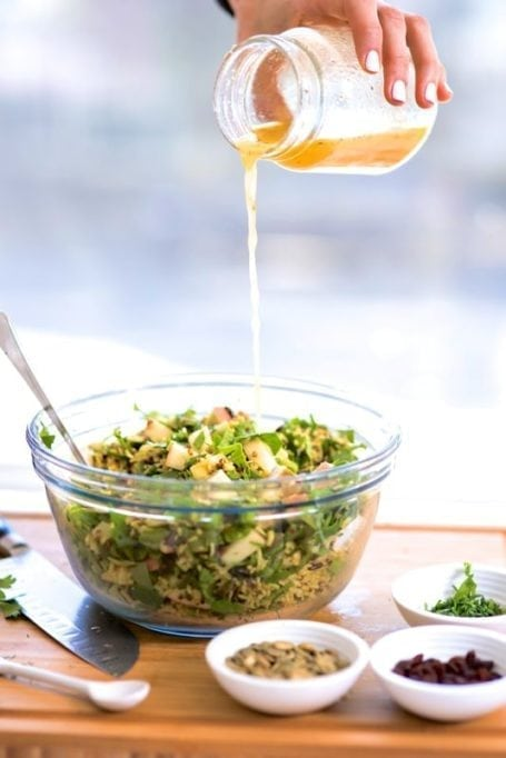 Curried Rice, Chicken and Apple Salad || Great as a healthy lunch and for big-batch meal prep || Eat Spin Run Repeat