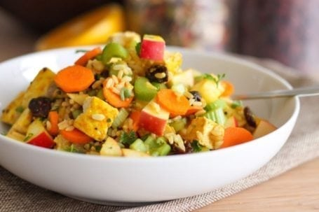 Curried Rice Chicken and Apple Salad - Eat Spin Run Repeat
