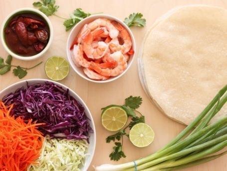 Ingredients for Chipotle Shrimp Burritos