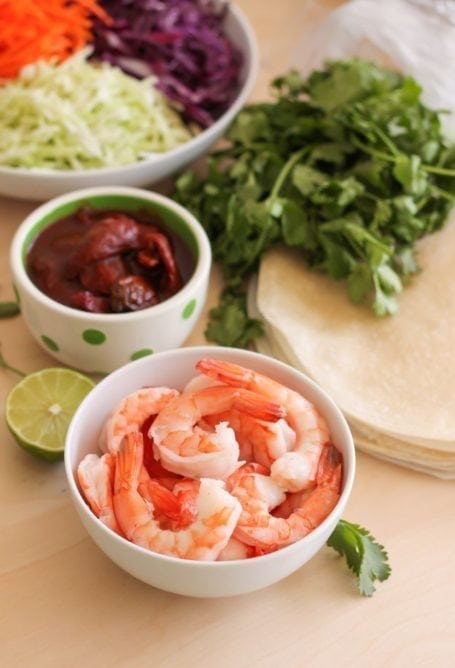 shrimp and chipotle peppers