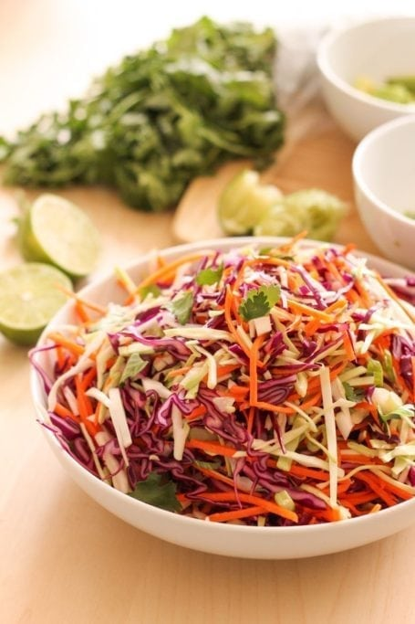 cabbage slaw for burritos