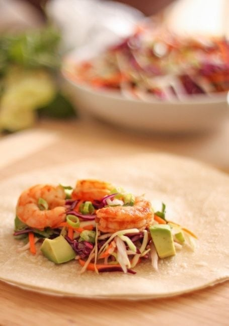 Chipotle Shrimp Burritos - Eat Spin Run Repeat